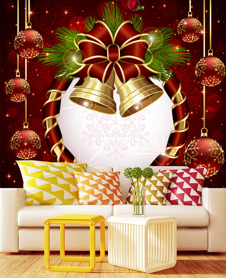 3D Christmas Bell 32 Wall Paper Wall Print Decal Wall Deco IndoorWall