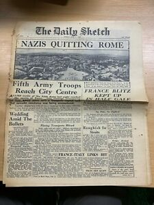 WW2-034-NAZIS-QUITTING-ROME-034-THE-DAILY-SKETCH-NEWSPAPER-5-JUNE-1944