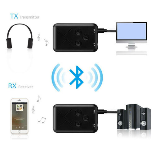 2 in 1 Bluetooth 4.2 Transmitter /& Receiver 3.5mm Wireless Stereo Audio Adapter