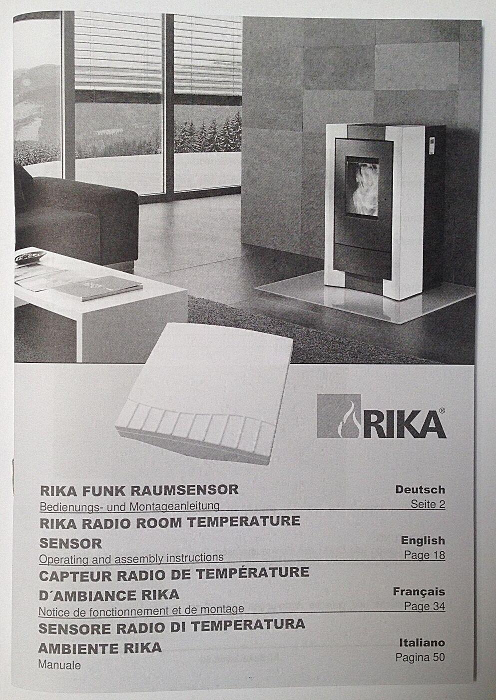 Rika Raumsensor Funk-Sensor Funk passend für viele Rika Pelletöfen E14558