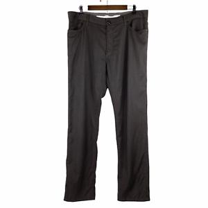 Ermenegildo Zegna Straight Leg Gray Wool Italian Dress Pants Size 40 x 32 FLAW