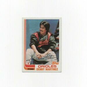 1982 Topps Denny Martinez Baseball Card #712 Baltimore Orioles HOF