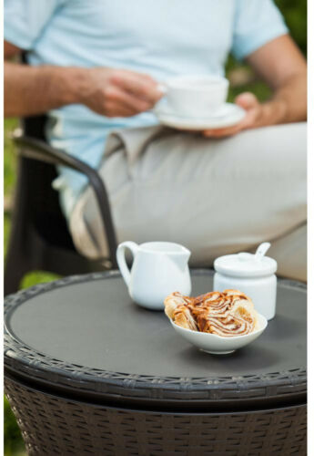 Boissons Cooler patio table Cool Bar 7.5 Gal Résine rotin mobilier extérieur barbecue environ 28.39 L