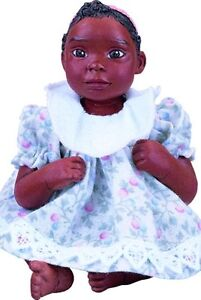 ABC Frankie Afro African American Brown Black Dark New Resin Baby Boy Doll