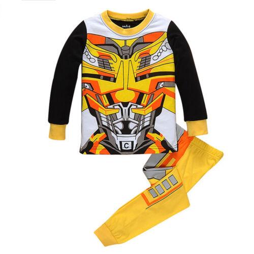 Superhero Superman Kids Sleepwear Pyjamas Costume Fancy Dress Outfits Bday Gifts