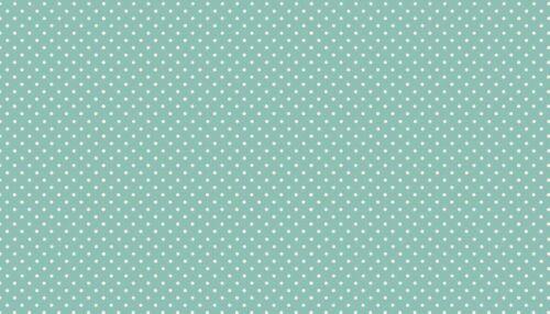 la mitad o todo Metro MAKOWER /'Spot Verde Azulado/' 100/% Algodón Cuarto Gordo
