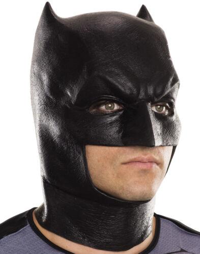 Mens Batman V Superman Vinyl Black Licensed Over Head Mask Adult