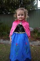 Frozen Anna Winter Costume Dress With Cape