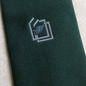 Acheter Pas Cher Cravate Tootal Vintage Homme Cravate SociÉtÉ Entreprise 1970 S 1980 S Vert Foncé-afficher Le Titre D'origine