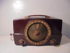 Vintage Zenith Bakelite Tube Am/Fm Radio Model Y825 Works