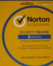 Norton Security Deluxe | 5 Devices | PC/Mac/Mobile Download Code