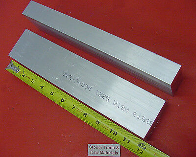 "2 Pieces 1/"" X 1-1//2/"" ALUMINUM 6061 FLAT BAR 12/"" long T6511 SOLID NEW Mill Stock"