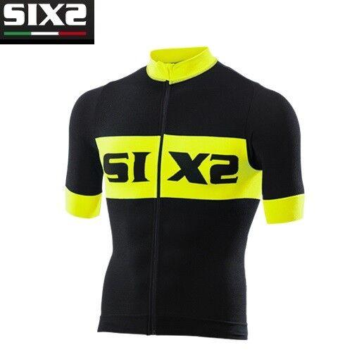 Jersey T-Shirts kurze Ärmel Fahrrad Jersey Fahrrad SIXS schwarz gelb BIKE3 luxus  | Feinen Qualität