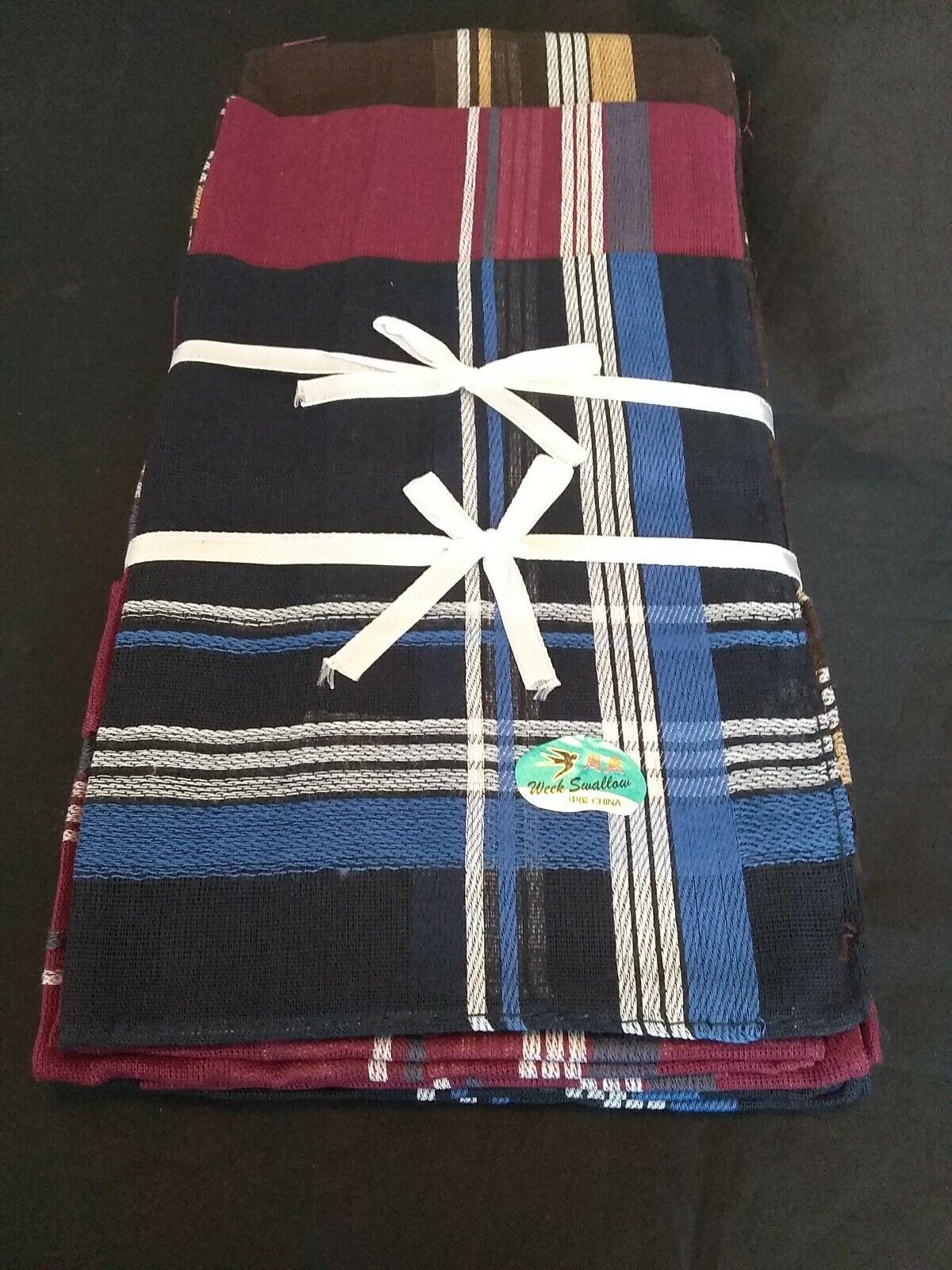 12 Mens Handkerchiefs Hankies Hanky Cloths 100% Cotton 13