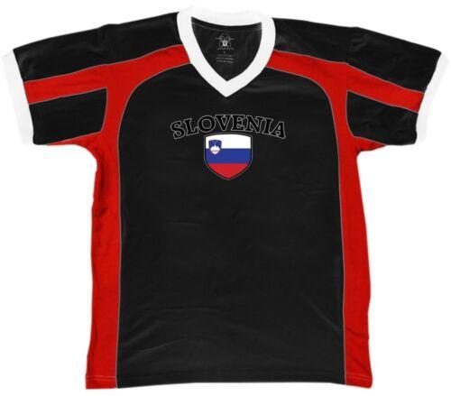 Slovenia Flag Crest Slovenian National Country Pride Retro Sport T-shirt