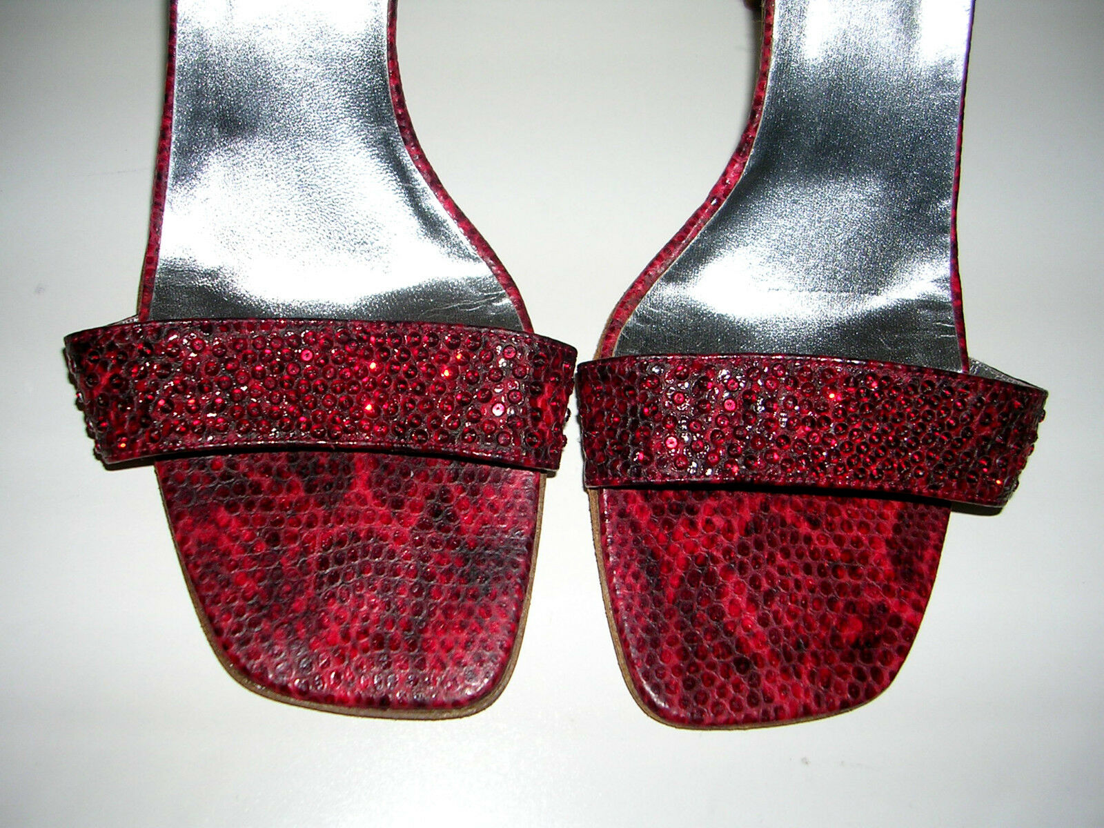 BADGLEY MISCHKA LIPSTICK ROT HIGH HEEL SLING SIZE BACKS WITH CRYSTALS SIZE SLING 38.5 ae67be
