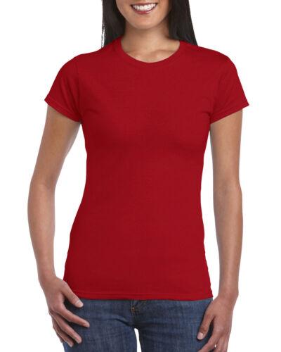 Femmes//Femme Gildan Softstyle 100/% Ringspun T-shirts en coton neuf