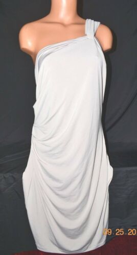 Victorias Secret STUNNING Single Shoulder Strappy Strapless Rouched Dress NWT XL