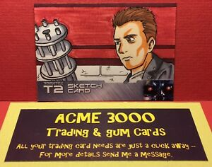 Unstoppable-Terminator-2-T2-ANDY-BOHN-Sketch-Card-ARNOLD-T-800