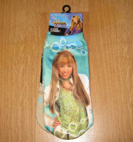 2 pairs of Disney Hannah Montana Size 6-8.5 socks