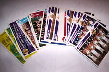 SUPERBE LOT 25 CARTES BASKET PANINI SNB LNB 1995 FRANCAIS SPECIAL EQUIPES