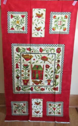 """1 Pretty MODA /""""Round Robin/"""" Cotton Fabric Quilting//Wallhanging Panel"""