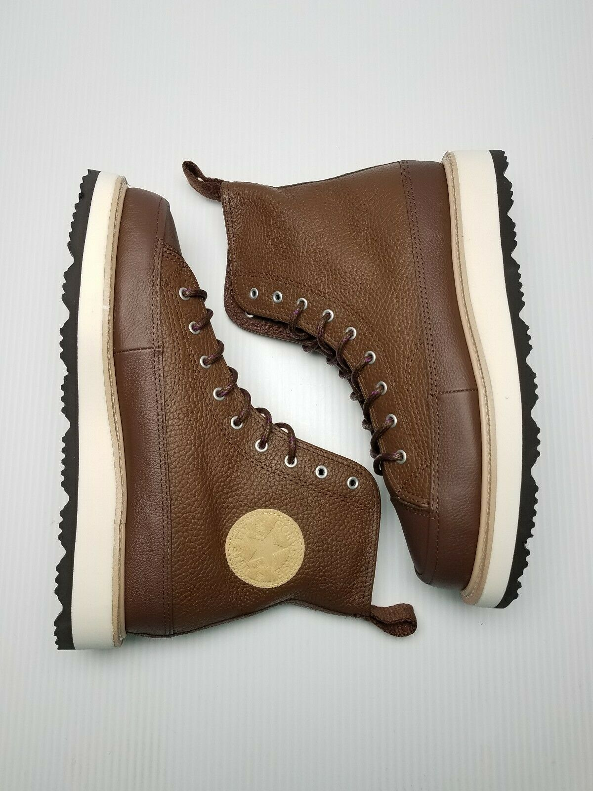 Converse CT Crafted Boot HI Men Size 8.5 Chocolate Leather 162354C Chuck Taylor