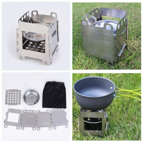 Titanium Alloy Outdoor Mini Camping Cooking Burner Folding Gas Stove Oven 3000W