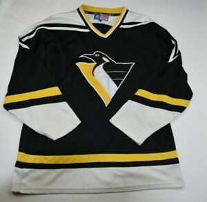 Vintage1990s-Pittsburgh-Penguins-NHL-hockey-starter-Jersey-SZ-L-MENS-NHL-RARE