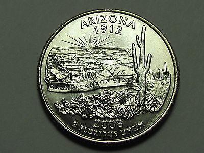 2 Coins **FREE SHIPPING** 2008 P /& D Arizona Quarter Set