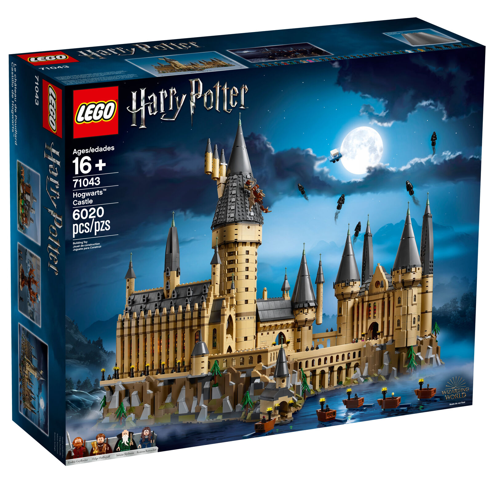 Lego Harry Potter Hogwarts Castle Set 71043 - - - 4 minifigures 27 microfigures a55891