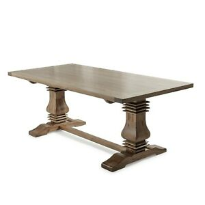 Details About Egf320 New 2m Solid Oak Wooden Twin Pedestal Dining Table