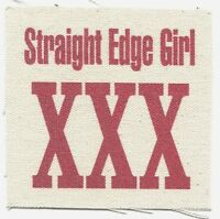 'straight Edge Girl Xxx' Cloth Patch -sew On Free Shipping Punk Hardcore Sxe