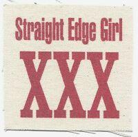 'straight Edge Girl Xxx' Cloth Patch -sew On Free Shipping Punk Hardcore Sxe