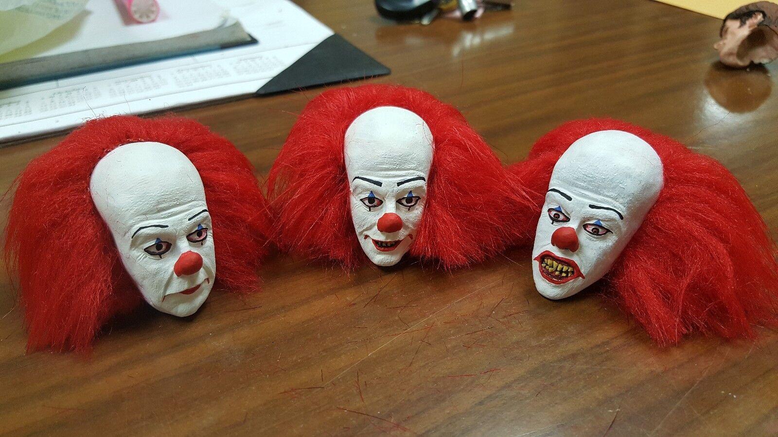 Der clown pennywise aus klassischen version 3 kopf für 12 zoll körper neue wurzel