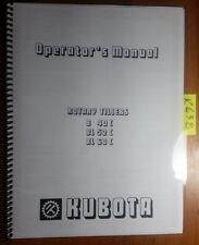 Kubota B40c Bl52c Bl60c Rotary Tiller Owners Operators Manual 70030 35150