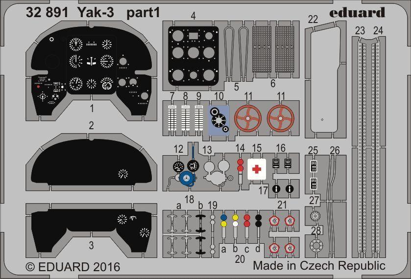 EDUARD 1 32 YAKOVLEV YAK-3