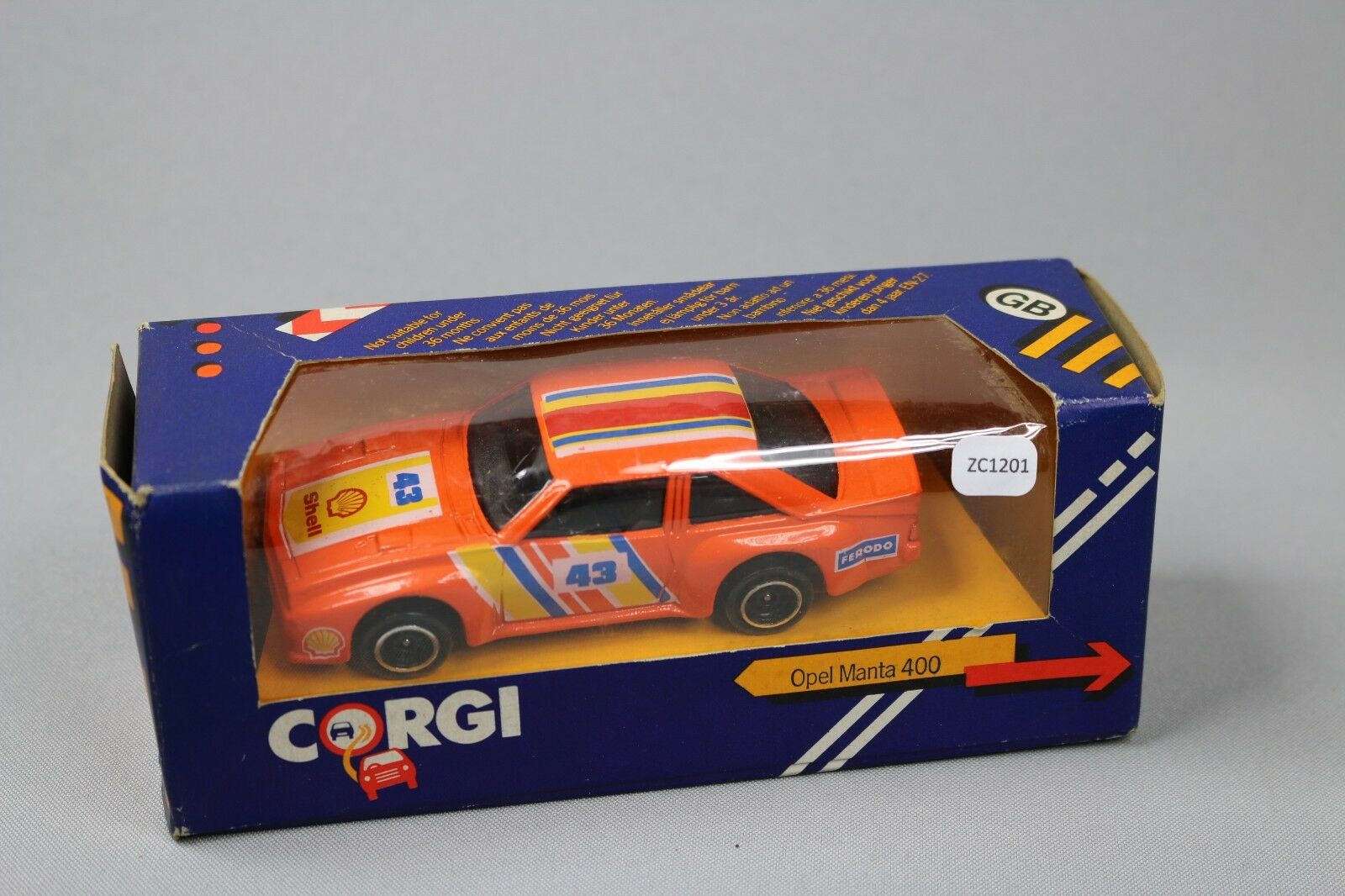 ZC1201 Corgi 102 Voiture miniature 1 43 Opel Manta 400 400 400 orange N° 43 Ferodo Shell 339783