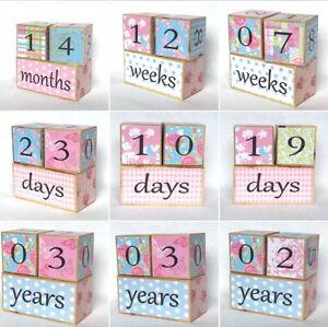 Baby Age Blocks  Milestone Blocks  Photo Props - <span itemprop='availableAtOrFrom'>Blackburn, Lancashire, United Kingdom</span> - Baby Age Blocks  Milestone Blocks  Photo Props - Blackburn, Lancashire, United Kingdom