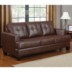Coaster Samuel Contemporary Leather Sleeper Sofa