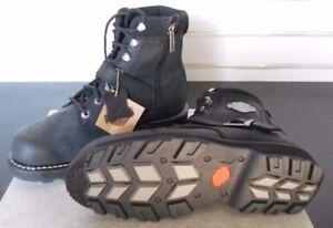 Harley-Davidson-Men-039-s-Nobleton-Black-Leather-Low-Cut-Boot-D96097