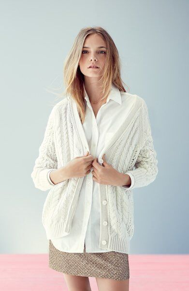 NEW Equipment Suzy Cable Knit Cashmere Cashmere Cashmere Cardigan- natural size XS  348 26adf6