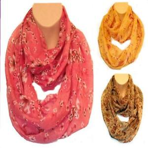 Gorgeous Vintage Style Floral Circle Loop Infinity Scarf Snood New Colour