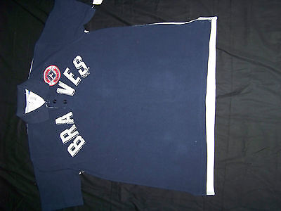 G-III Sport By Carlton Banks Atlanta Braves Men/'s Polo Shirt NWT
