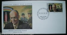 W67 1-1 MARSHALL ISLANDS FDC COVER 1994 SHAEF COMMANDER NAMED 1944