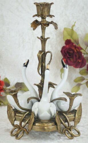 Kerzenleuchter Kerzenständer Bronze Antik Kandelaber Kerzenhalter Schwäne Deko