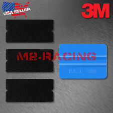 3M Blue Squeegee Applicator Tool Felt Edge Decal Tips x3 Vinyl Wrap DIY Kit Set
