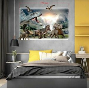 Dinosaurier Wandtattoo Wandaufkleber Kinderzimmer Decoration 3d 77x55cm Dino Ebay