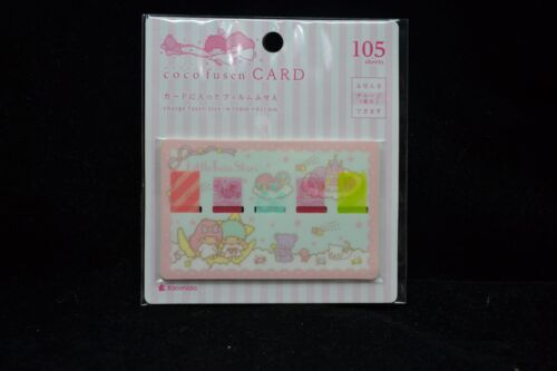 Memo Tab Post-it Sticker Bookmark Sanrio Little Twin Stars Coco fusen card