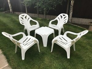Image Is Loading Starplast Plastic Garden Patio Pool Furniture Set Chair